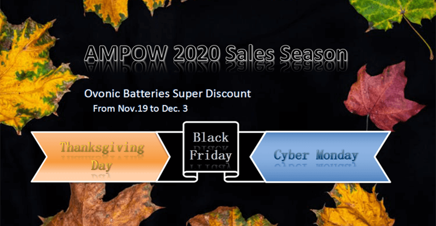 Ovonic LiPo batteries Thanksgiving day &black friday& cyber monday sales 2020