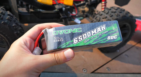Ovonic Rebel 80C 3S 6500mAh 11.1V Softcase LiPo Battery with EC5 Plug for ARRMA 3S &6S TRUCK