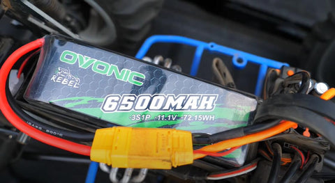 Ovonic Rebel 80C 3S 6500mAh 11.1V Softcase LiPo Battery with XT90 Plug is suitable for TALION 6S BLX