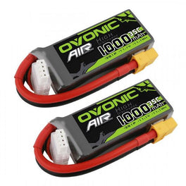 Ovonic 1000mah 3S 11.1V 35C Lipo Battery Pack with XT60 Plug for Airplane&Heli - Ampow