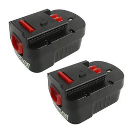 (2packs) Ovonic 14.4V 3800mAh 12S NIMH replacement battery for BlackDecker Firestorm - Ampow