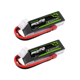 (2 pcs) Ovonic 50C 3S 11.1 v 2200mah Lipo Battery Pack with Deans Plug - Ampow