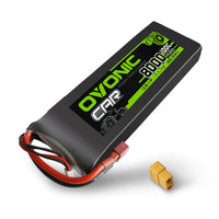 Load image into Gallery viewer, OVONIC 50C 11.1V 3S 8000mAh Lipo Battery with Deans Plug for 1/10 &1/8 [2-Pack] - Ampow
