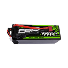 OVONIC Hardcase 14.8V 50C 6500 mAh 4S LiPo Battery Pack 14# with Deans Plug - Ampow