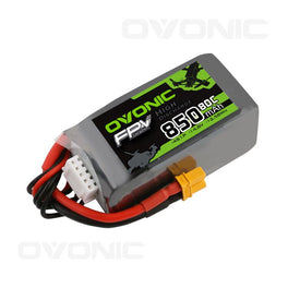 Ovonic 14.8V 850mAh 4S 80C Lipo Battery with XT30 Plug for 150 to 210mm FPV - Ampow
