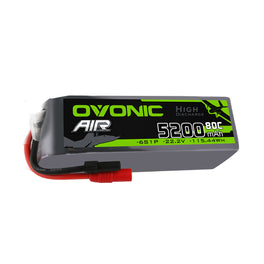 Ovonic 80C 6S 5200mAh 22.2V LiPo Battery Pack for X-Class - AS150 Plug - Ampow