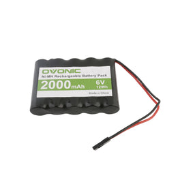Ovonic NIMH 5-cell 6V 2000mAh battery for RC Car&Airplane RC receivers - Ampow