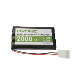 Ovonic 2000mAh 9.6V 8-cell NIMH battery with tamiya plug for RC Car - Ampow