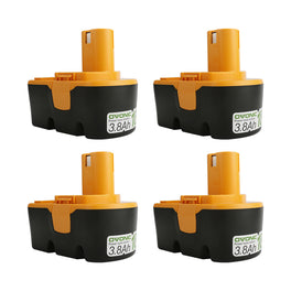 (4packs) Ovonic  18V 3800mAh NIMH replacement  battery  for Ryobi - Ampow