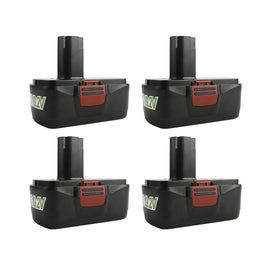 Ovonic 19.2V 3.8Ah for Craftsman C3 19.2 volt replacement batteries (4packs) - Ampow