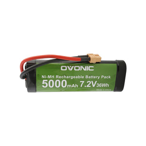Ovonic 5000mAh 7.2V 6-cell NIMH  battery for  1/10 brushed RC boats& RC Car model - Ampow