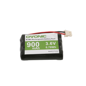 Ovonic 900mAh 3.6 V 3-cell NIMH  battery with tamiya plugs for baby monitor - Ampow