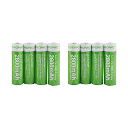 Ovonic AA 2800mAh NIMH  battery [8packs] - Ampow