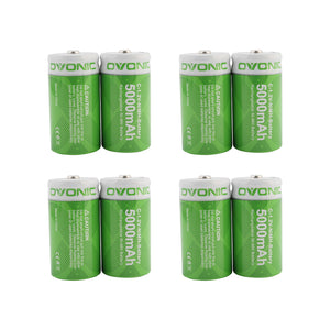 Ovonic 5000mAh NIMH-C battery for digital cameras, electric toothbrushes and flashlights[8packs] - Ampow
