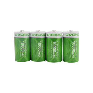 Ovonic 10000mAh NIMH-D  battery [4packs] - Ampow