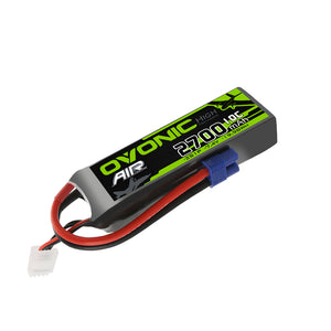 Ovonic 2700mah 2S 7.4V 10C Lipo Battery Pack with EC3 Plug for airplane - Ampow