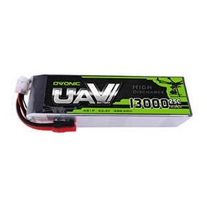 Ovonic 22.2V 25C 6S 13000mAh LiPo Battery Pack with AS150 +XT150 Plug for Multirotors Drone - Ampow