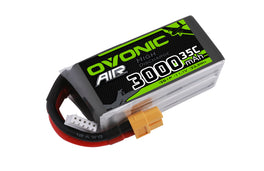 Ovonic 3000mah 3S1p 11.1V 35C Lipo Battery Pack with XT60 Plug for RC Airplane - Ampow
