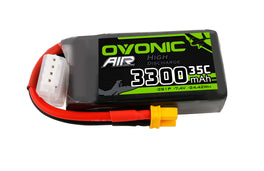 Ovonic 3300mah 2S1p 7.4V 35C Lipo Battery Pack with XT30 Plug for FPV drone - Ampow