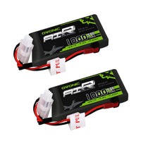 Load image into Gallery viewer, (2 packs) Ovonic 50C 2S 7.4V 1000mAh Lipo Battery Pack with JST Plug for RC helicopter - Ampow