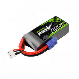 OVONIC 11.1V 1300mAh 3S 50C LiPo Battery Pack with EC3 Plug for Aircraft - Ampow