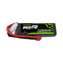 OVONIC 7.4V 50C 2S 1500mAh LiPo Battery Pack with Deans Plug for Foamy Airplane 1/16 Car - Ampow