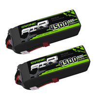 Load image into Gallery viewer, OVONIC 50C 22.2V 6S 4500mAh LiPo with T Plug for plane& drone(2 pcs) - Ampow