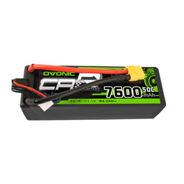 OVONIC 11.1V 7600mAh 3S1P 50C Hardcase Lipo Battery 13# with XT60 Plug for RC Car Trucks - Ampow