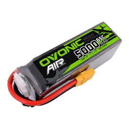 Ovonic 5000mah 3S1p 11.1V 65C Lipo Battery Pack with XT90 Plug for RC Airplane - Ampow