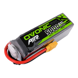 Ovonic 5000mah 8S1p 29.6V 65C Lipo Battery Pack with XT90 Plug for RC Airplane - Ampow