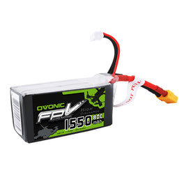 Ovonic 14.8V 1550mAh 4S 80C LiPo Battery Pack with XT60 Plug - Ampow