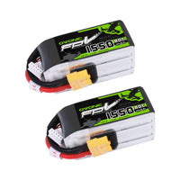 Load image into Gallery viewer, Ovonic 14.8V 1550mAh 4S 80C LiPo Battery Pack with XT60 Plug [2pcs] - Ampow