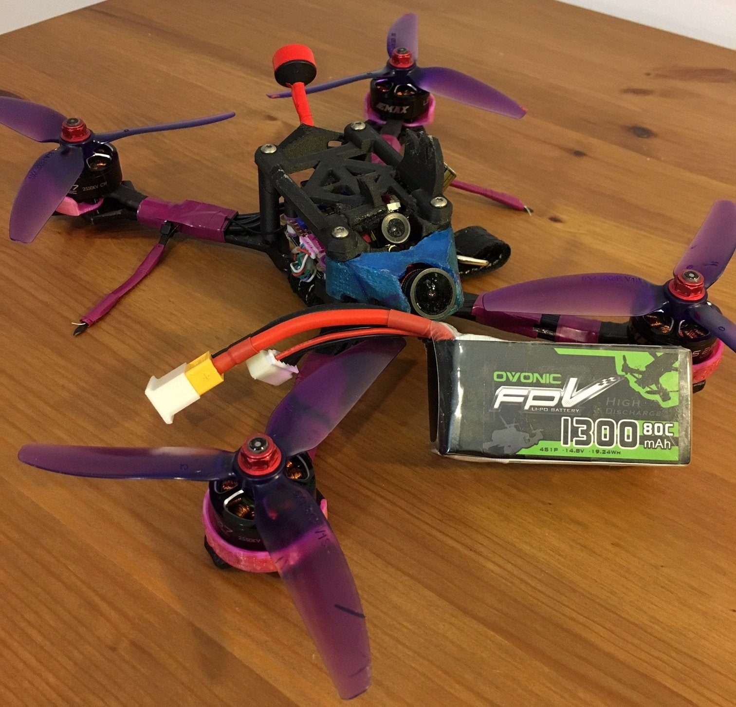 ovonic 1300mah 4s 80C for fpv quadcopter