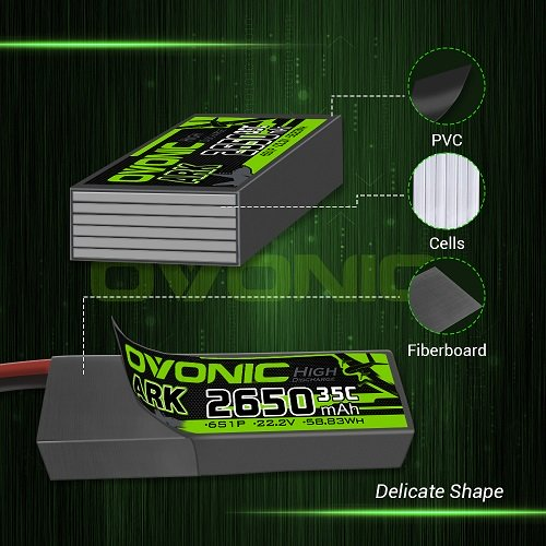 Ovonic ARK 2650mah 6S 22.2V 35C Lipo Battery Pack with XT60 Plug for Airplane&Heli