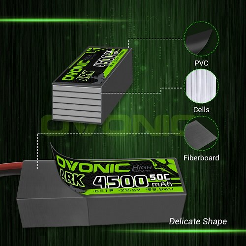 Ovonic ARK 6S 22.2V 4500mAh 50C with Deans Plug LiPo Battery Pack