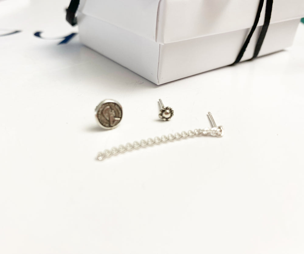 Load image into Gallery viewer, 4 * Pack 3 earrings - silver 925