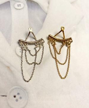 Double-sided chandelier earring