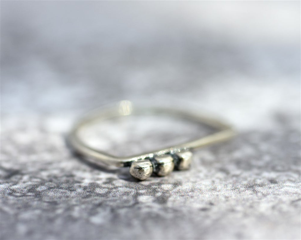 Balls Ring, Silver-gold plated Statement Ring, Statement Jewelry, Unique Stacking Ring, Dots Ring