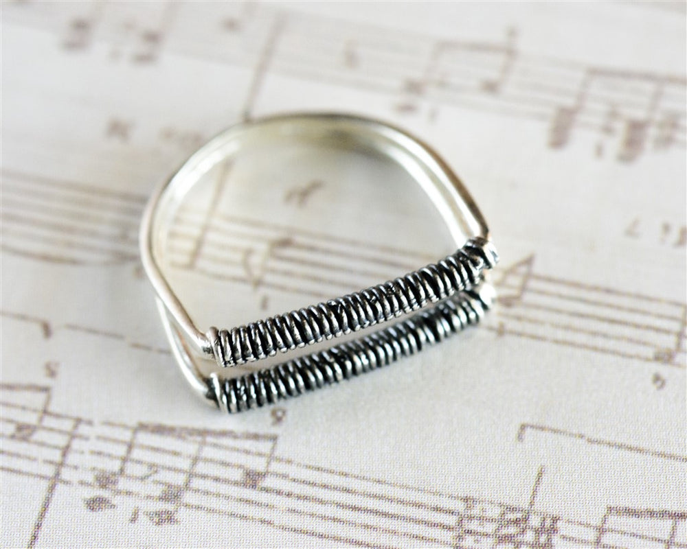 Double wire Stacking Ring, Unique Ring, Statement Ring, Thin Stacking Ring, gold plated/silver 925, Double Stack Ring, Women Ring