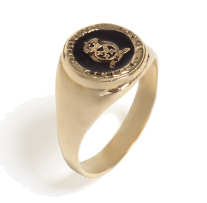 Load image into Gallery viewer, Signet ring inlaid colorful Enamel With symbol signet ring inlaid colorful