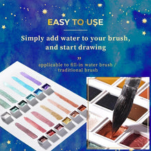 Load image into Gallery viewer, Metallic Watercolor Set