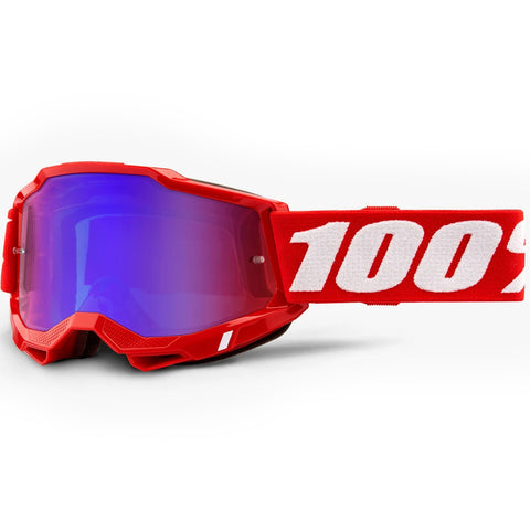 New 100% Youth Accuri 2 Red Goggles (Mirror Red/Blue Lens)