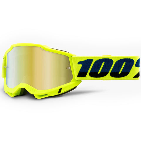New 100% Youth Accuri 2 Neon Yellow Goggles (Mirror Gold Lens)