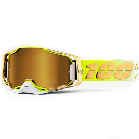 100% Armega Feelgood Goggles (True Gold Lens)