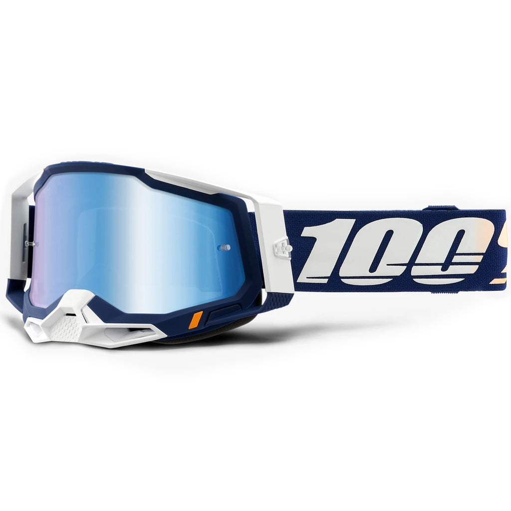 New 100% Racecraft 2 Concordia Goggle (Mirror Blue Lens)