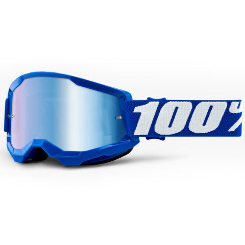 New 100% Youth Strata 2 Blue Goggles (Mirror Blue Lens)