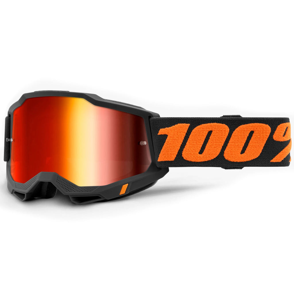 New 100% Accuri 2 Chicago Goggle (Mirror Red Lens)
