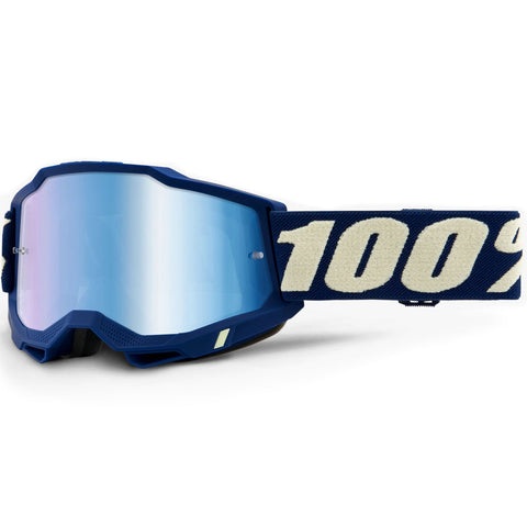 New 100% Youth Accuri 2 Deepmarine Goggles (Mirror Blue Lens)