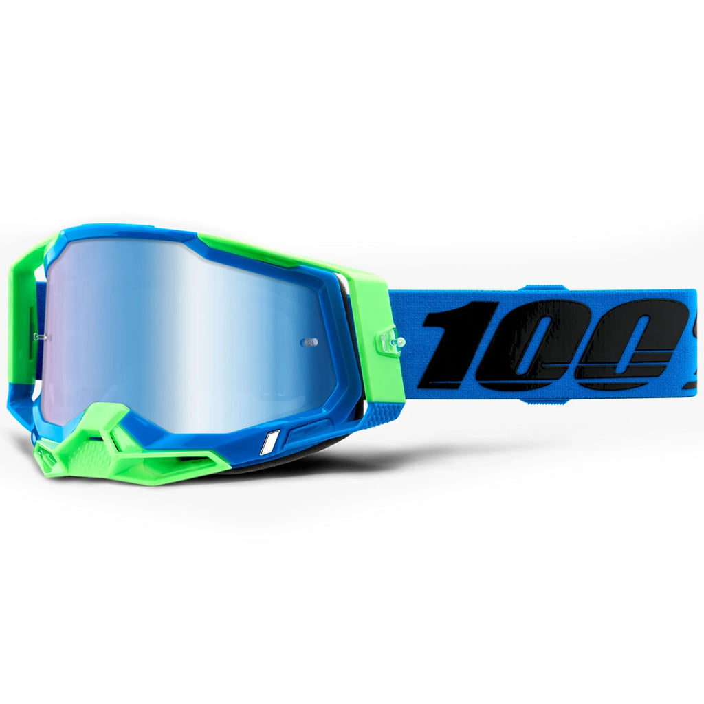 New 100% Racecraft 2 Fremont Goggle (Mirror Blue Lens)