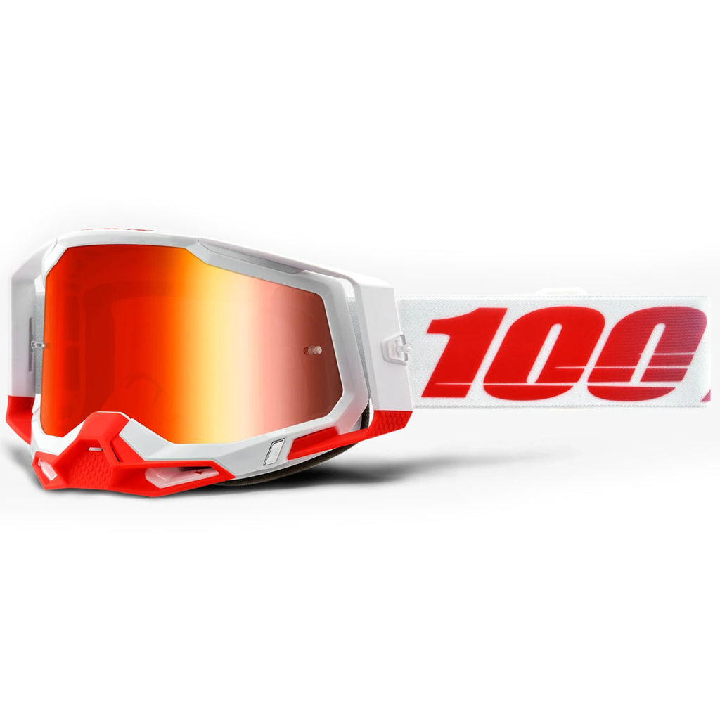 New 100% Racecraft 2 St-Kith Goggle (Mirror Red Lens)